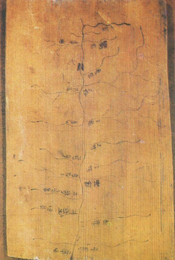 战国晚期秦地图 (甘肃天水放马滩